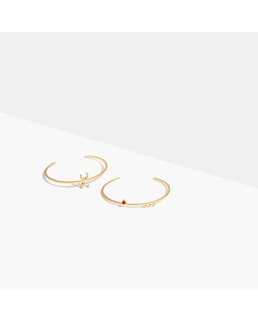 Madewell | Metallic Tiny Jewels Red Agate Bracelet Set | Lyst