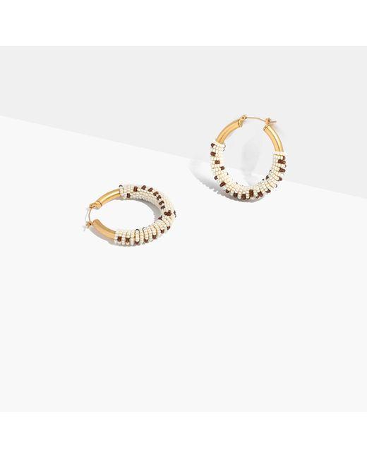 Madewell   Metallic Bead-wrapped Hoop Earrings   Lyst