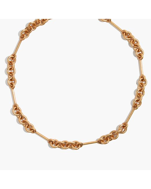 Madewell | Metallic Circle Link Choker Necklace | Lyst