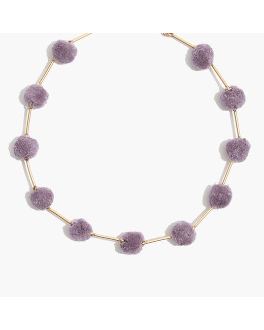 Madewell | Multicolor Pom-pom Necklace | Lyst