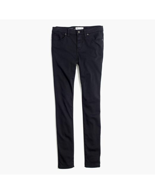 "Madewell - Black 8"" Skinny Sateen Jeans - Lyst"