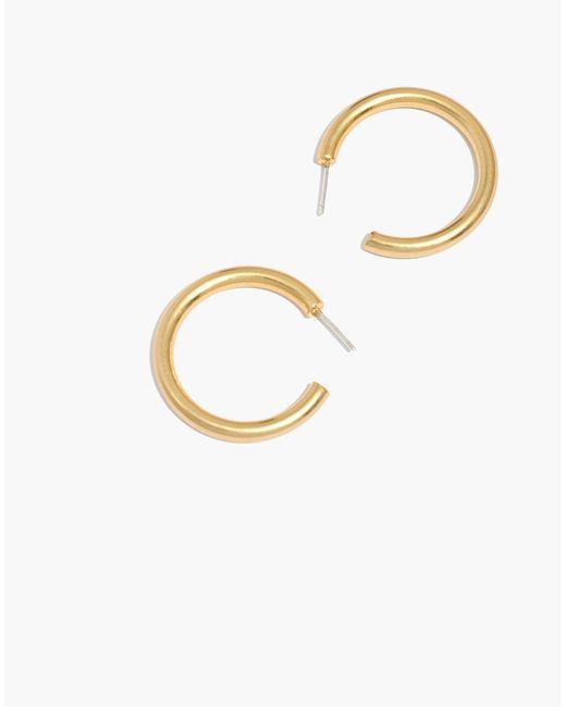 Madewell - Metallic Chunky Medium Hoop Earrings - Lyst