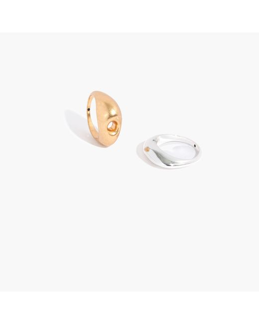Madewell - Metallic Sestina Ring Set - Lyst