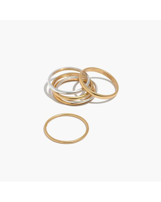 Madewell | Metallic Delicate Stacking Ring Set | Lyst