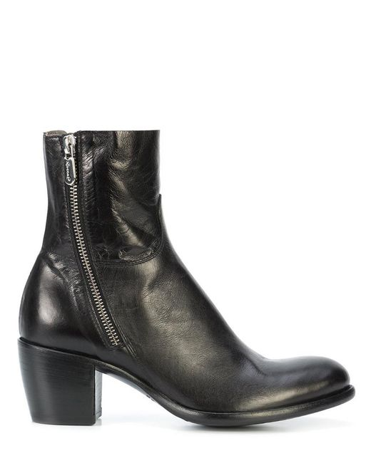 Rocco P - Black Mid Heel Ankle Boot - Lyst