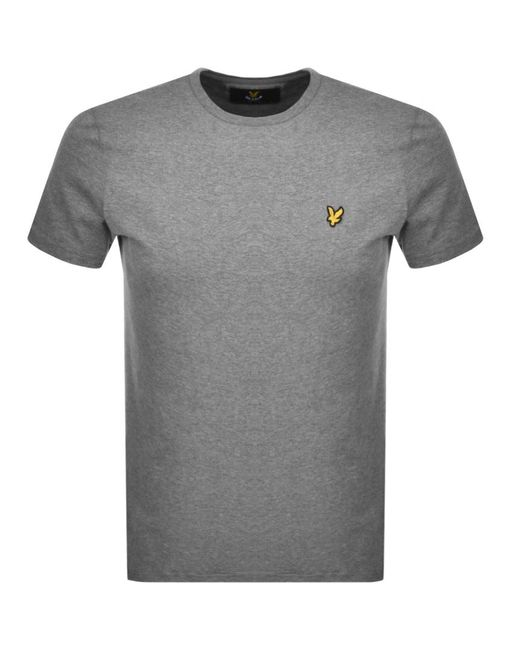 20b3e8acd Lyle & Scott Crew Neck T Shirt Grey in Gray for Men - Save 52% - Lyst