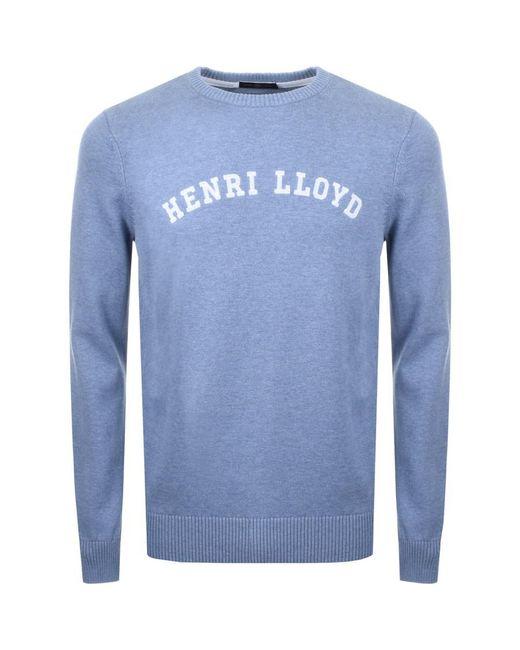 Henri Lloyd - Gell Knit Jumper Blue for Men - Lyst