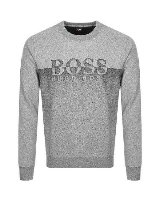 BOSS by Hugo Boss - Gray Boss Orange Withmore Sweatshirt Grey for Men - Lyst