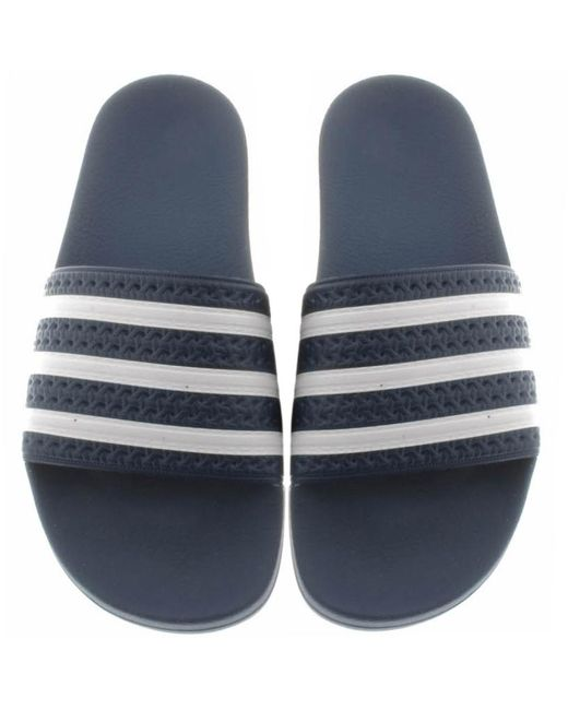 98c2013e1a06 Adidas - Blue Originals Adilette Sliders Navy - Lyst ...