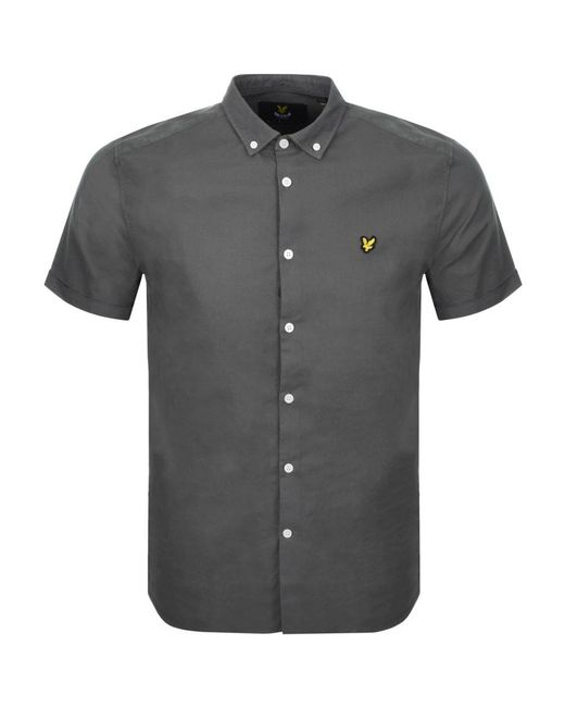 Lyle & Scott | Lyle And Scott Short Sleeved Oxford Shirt Green for Men | Lyst