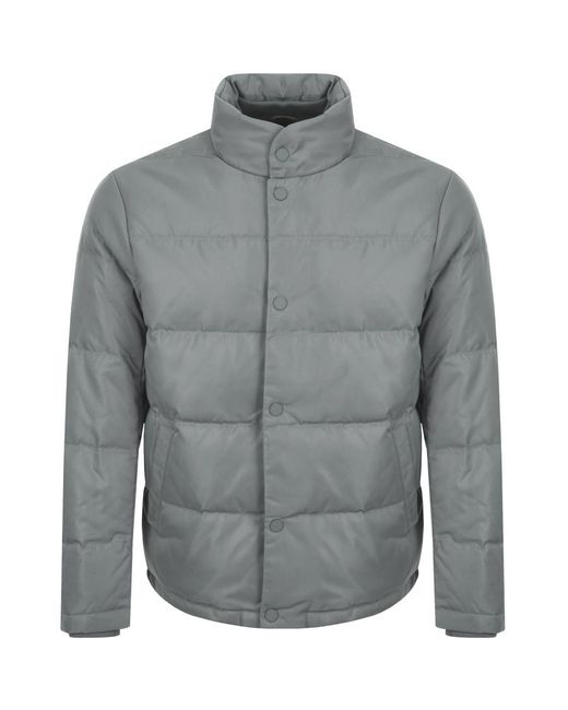 Armani Exchange - Gray Quilted Down Jacket Grey for Men - Lyst