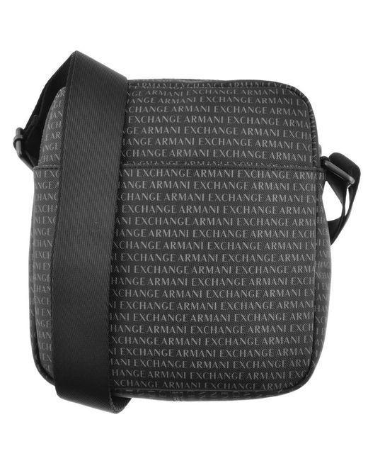1a0423ebfbd Armani Exchange Logo Shoulder Bag Black in Black for Men - Lyst