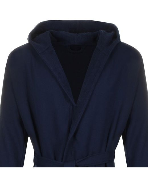 f13bf2e06f ... Armani - Blue Emporio Dressing Gown Navy for Men - Lyst ...