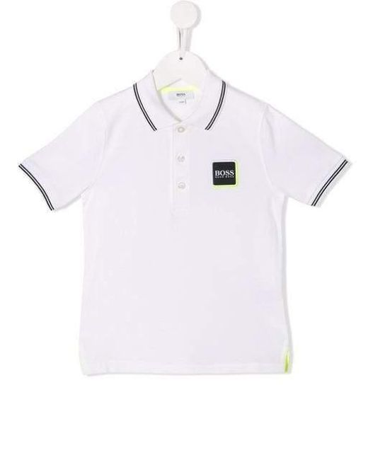 1a5101ee Lyst - BOSS Kids Logo Polo Shirt White in White for Men
