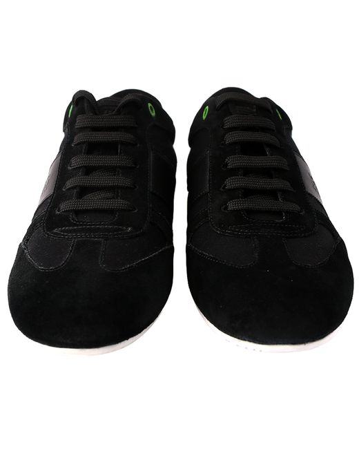 d62e74fdcbe ... BOSS - Black Lace Up Trainers for Men - Lyst ...