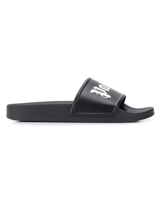 48491a4f9872 Lyst - Palm Angels Pool Slides Black white in Black for Men