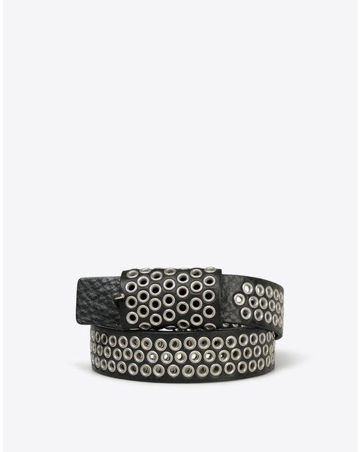Maison Margiela | Black Eyelet Calfskin Leather Belt | Lyst