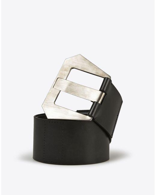 Maison Margiela | Black Calf Leather High-waisted Belt | Lyst