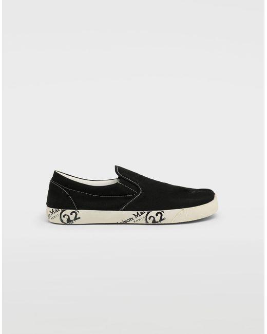63395eca7e2b Maison Margiela - Black Tabi Slip-on Shoes for Men - Lyst ...