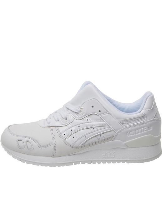 6e93192f9128a ... wholesale asics gel lyte iii patent pack trainers white white lyst  c657e 9335d
