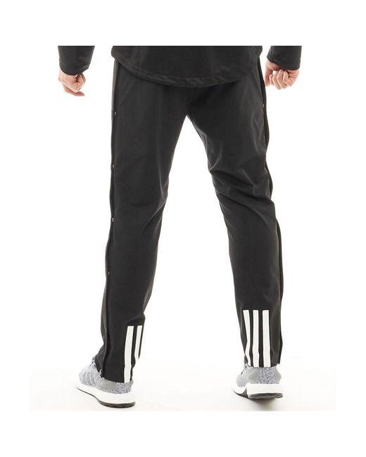 meet 40905 2b966 ... Adidas - Ekit Snap Basketball Pants Blackwhite for Men - Lyst ...