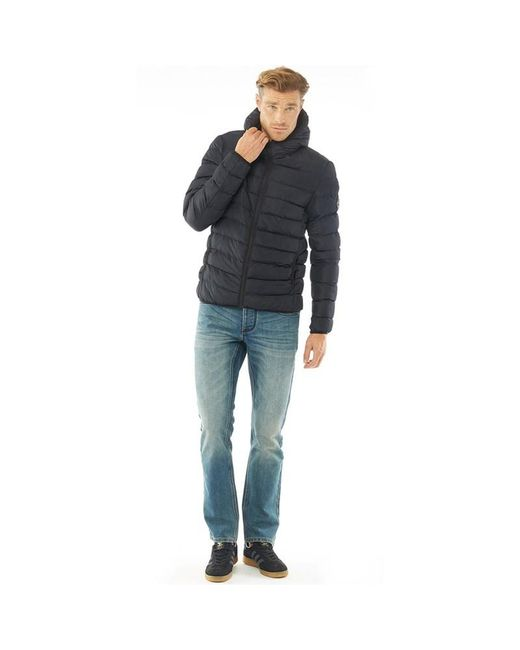 cf40edadb35 ... French Connection - Blue Row 2 Hooded Jacket Marine for Men - Lyst