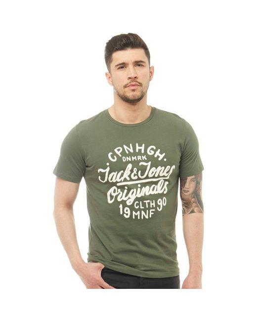 Jack & Jones - Green Surf T-shirt Thyme for Men - Lyst