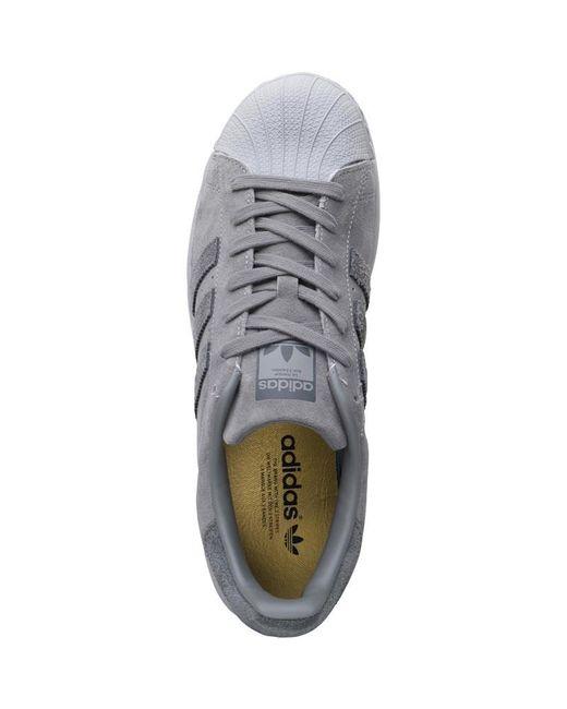Adidas Originals Superstar Bounce formadores gris / gris / gris 5