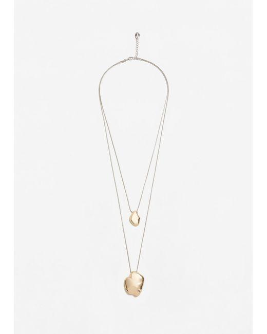 Mango | Metallic Chain Waterfall Necklace | Lyst