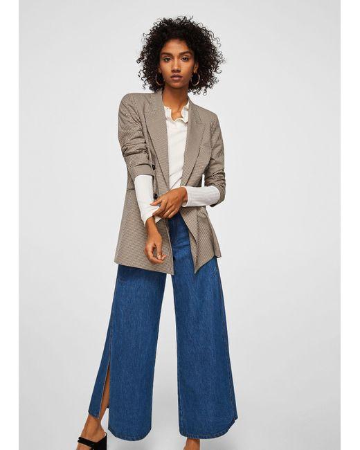 Mango - Blue Flared Elephant Jeans - Lyst