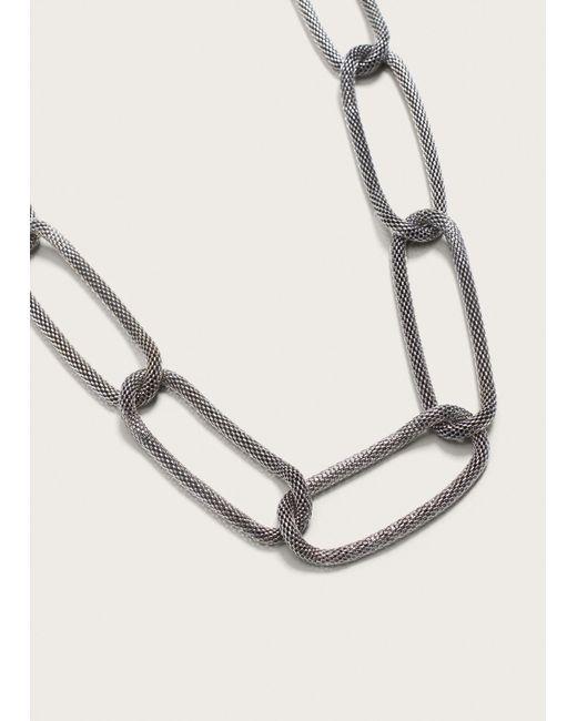 Violeta by Mango | Metallic Link Necklace | Lyst