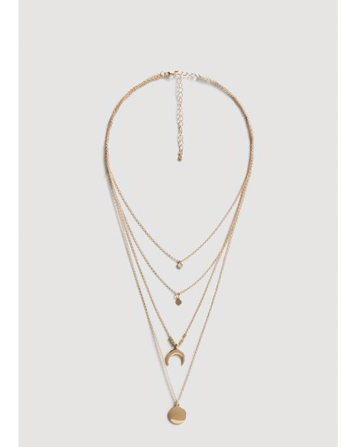 Mango | Metallic Necklace | Lyst