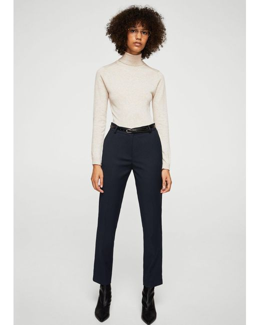 Mango   Blue Straight Suit Trousers   Lyst