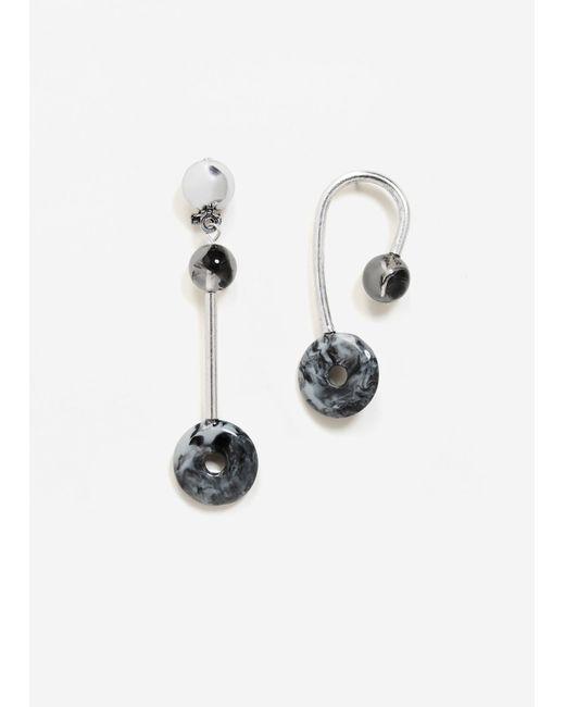 Mango   Metallic Earrings   Lyst