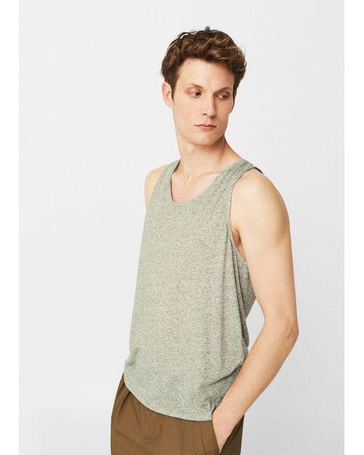 Mango | Green Strap T-shirt | Lyst