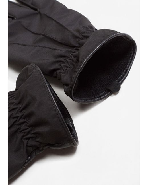 Mango | Black Gloves Mch for Men | Lyst