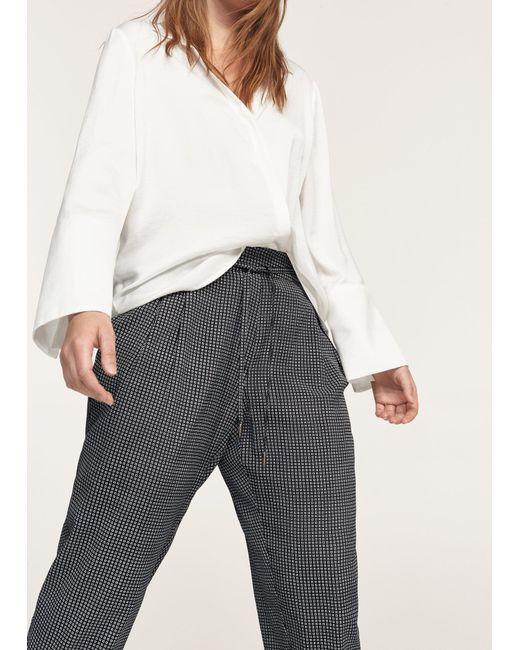 Violeta by Mango | Black Printed Baggy Trousers | Lyst