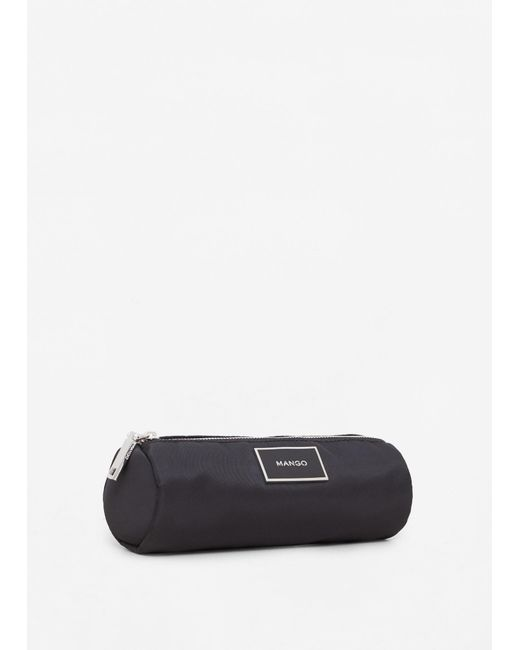 Mango | Black Zip Cosmetic Bag | Lyst