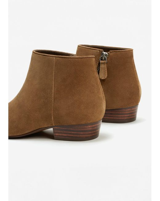 mango suede ankle boots in brown lyst