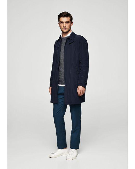Mango | Blue Slim-fit Cotton Chinos for Men | Lyst