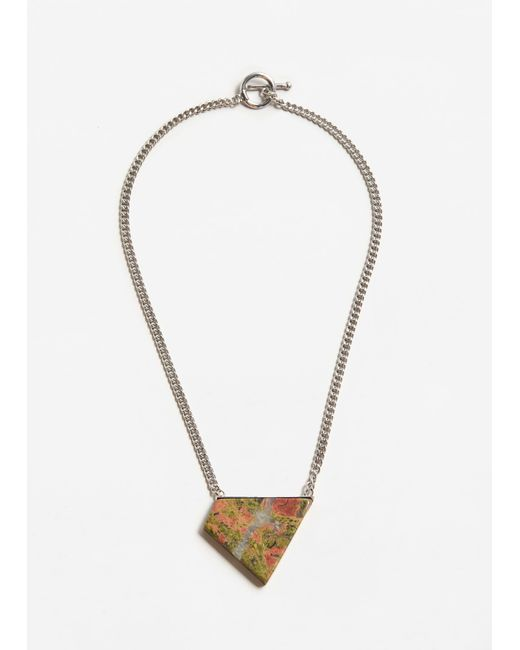 Mango | Metallic Geometric Stone Necklace | Lyst