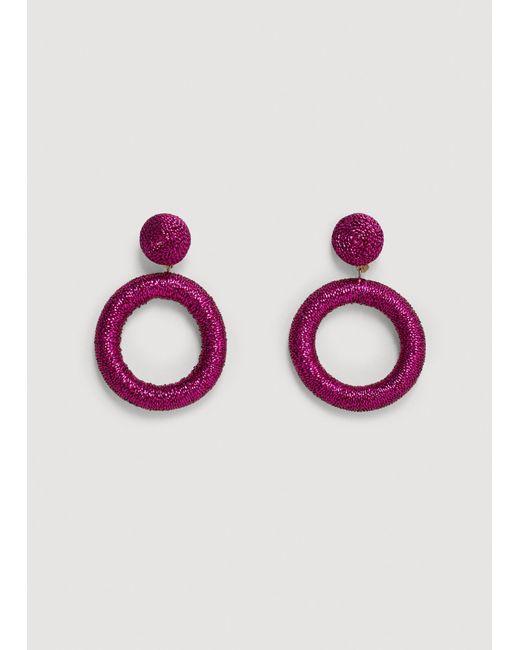 Mango | Purple Earrings | Lyst