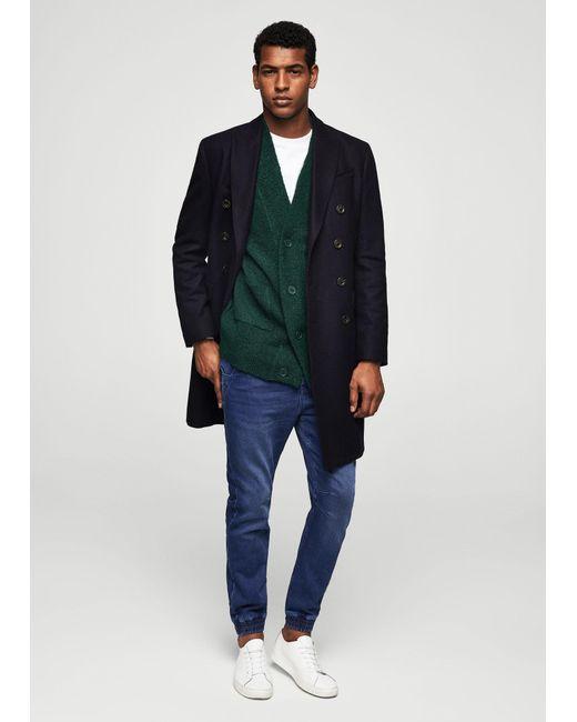 Mango | Green Textured Knit Cardigan for Men | Lyst