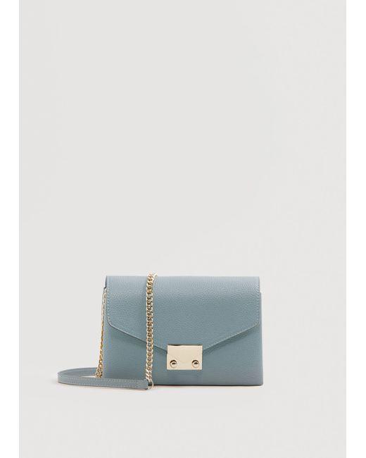 Mango - Blue Chain Cross Body Bag - Lyst
