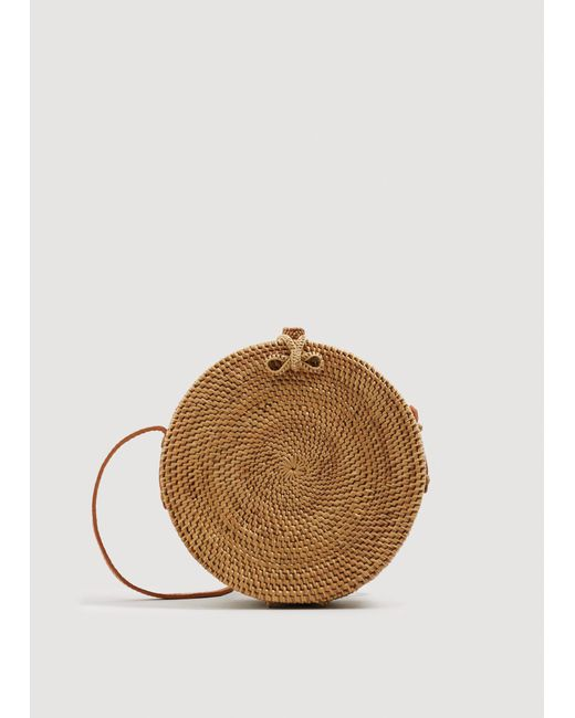 Mango - Natural Handmade Bamboo Coffer Bag - Lyst