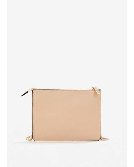 Mango | Natural Saffiano-effect Cross-body Bag | Lyst