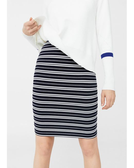 Mango | Blue Fitted Skirt | Lyst