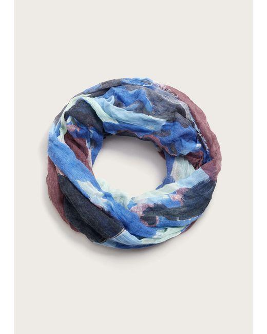 Violeta by Mango | Blue Multicolor Print Scarf | Lyst