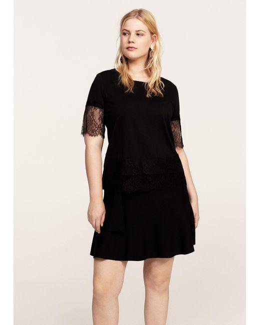 Violeta by Mango | Black T-shirt | Lyst