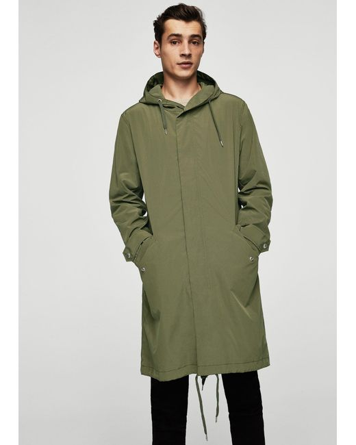 Mango | Green Water Repellent Parka for Men | Lyst